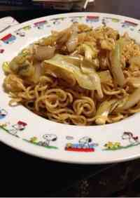 Yakisoba (Japanese Fried Noodles) from Ramen Noodles