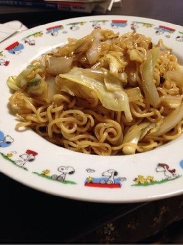 Yakisoba (Japanese Fried Noodles) from Ramen Noodles