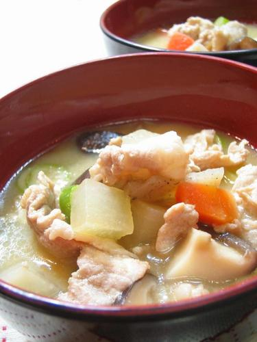 Hearty Pork Miso Soup