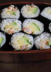 Avocado and Shrimp California Roll