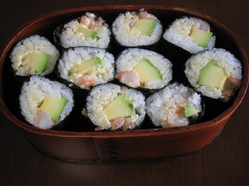 Avocado and Shrimp California Roll