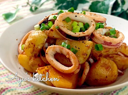 Squid Stir-Fried with Buttered Potatoes