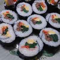 Kimbap: Korean Style Sushi Roll - Great for Setsubun!