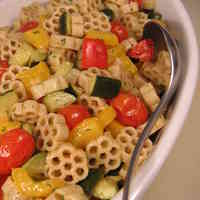 Perfect For A Potluck: Pasta Salad with Grilled Vegetables