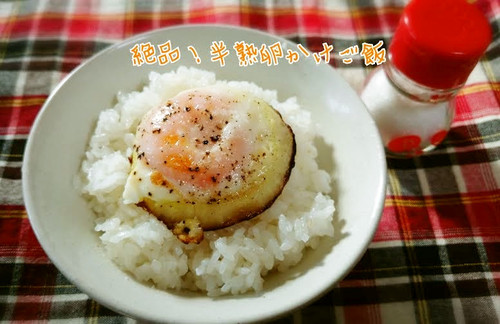Cheap, Quick Half-cooked Egg Over Rice
