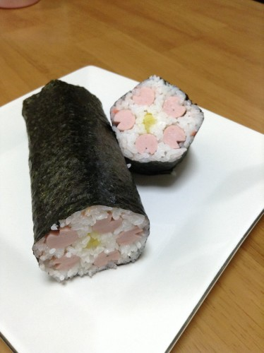 Lucky Ehoumaki Sushi Rolls with Flower Petals