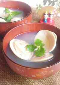 For Doll Festival: Clam Clear Broth Soup