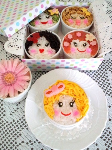 Charaben Sushi Cups For Doll's Day