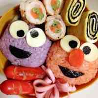 Easy Elmo Character Bento