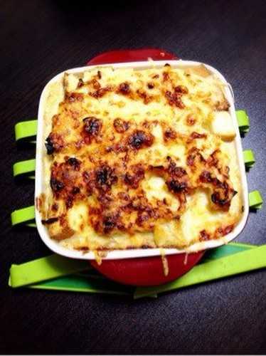 Atsuage au Gratin with Soy Milk, Miso and Mayonnaise