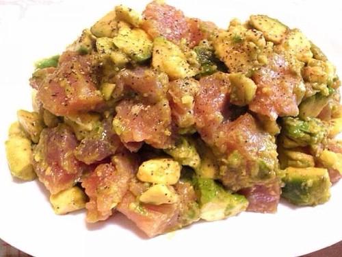 Wasabi Seasoned Avocado and Tuna Salad