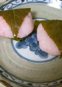 Microwaved Sakura Mochi with Koshi-an