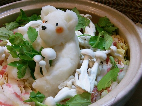 Grated Daikon Polar Bear Pot