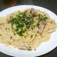 Soy Milk Japanese Pasta Carbonara