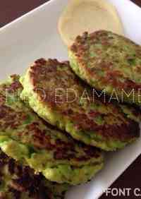 Large Pan-Fried Edamame Patties