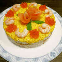Sushi Cake For Hinamatsuri (Girl's Day Festival)