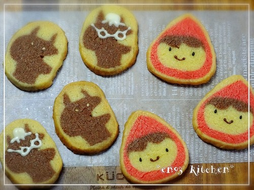 Cute Little Red Riding Hood Icebox Cookies
