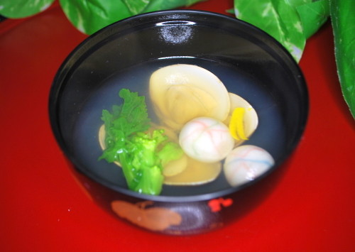 Clear Clam Soup for Doll's Festival or Okuizome (Symbolic First Meal Ritual)