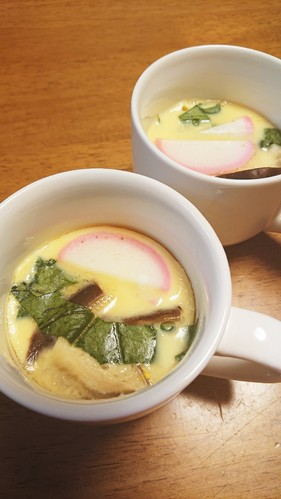 Chawan-mushi (Steamed Egg Custard) in the Microwave