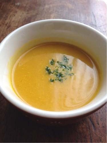 Kabocha Squash Potage Soup with Soy Milk