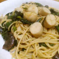 King Oyster Mushroom & Spinach Pasta with Butter and Soy Sauce