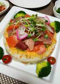 Doll's Festival Seafood Chirashi Sushi Cake