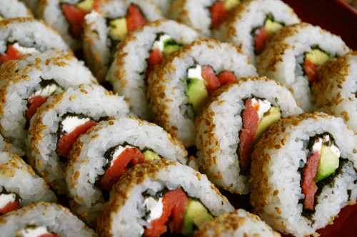 California Rolls (with Tips on Cutting the Rolls)