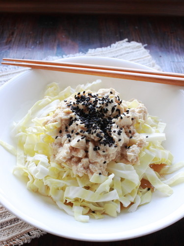 Tofu and Cabbage Salad