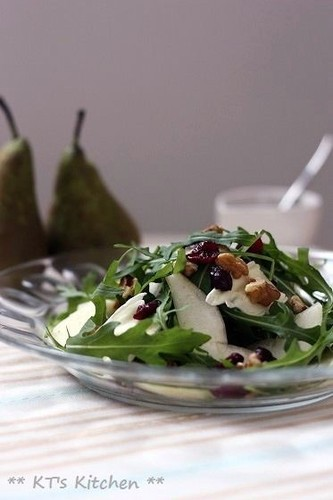 Brie, Pear, Cranberry, and Walnut Salad