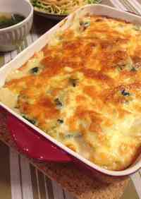 Spinach and Potato Gratin with Soy Milk