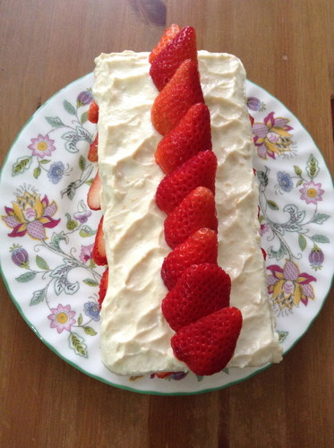 Egg and Dairy Free! Strawberry Sponge Cake
