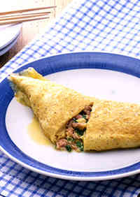 Tuna & Green Onion Japanese-Style Omelet