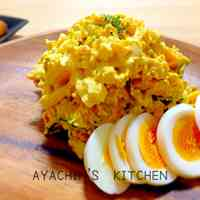 Kabocha and Boiled Egg Salad.