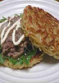 Yakiniku-Style Ramen Burger