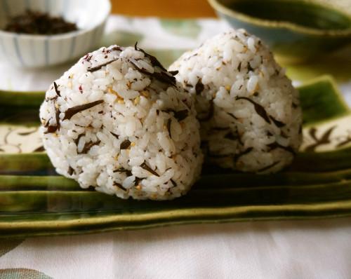 For Bentos Shiso Hijiki Seaweed Onigiri Rice Balls