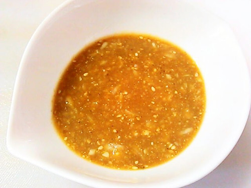 Sesame and Miso Dressing for Bang Bang Chicken