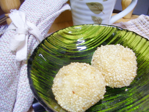 Chewy Non-fried Sesame Balls