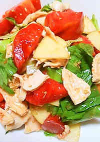 Boiled Chicken with Korean Dressing
