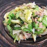 Time-Saving Spring Cabbage & Tuna Shio-Kombu Stir-Fry