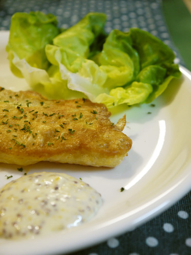 Light and Fluffy Cheese-Fried Tonguefish
