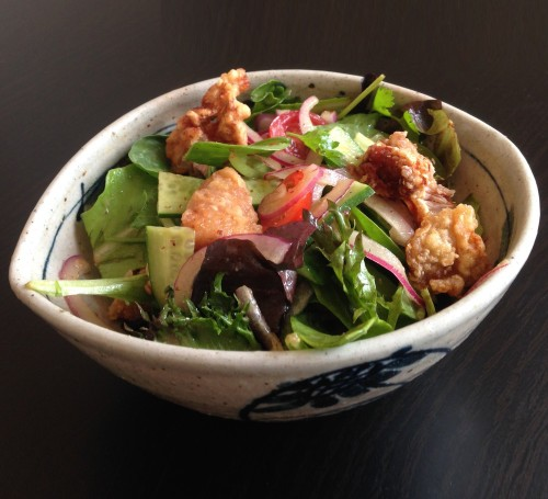 Japanese Fried Chicken Salad Americana