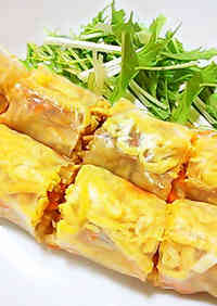 Memil Jeonbyeong (Buckwheat Crepe)-Style Fresh Spring Rolls