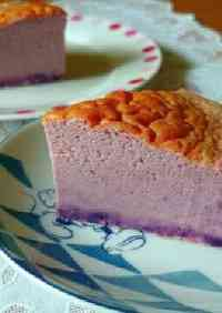 Easy Purple Sweet Potato Cheese Cake with Pancake Mix