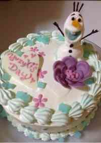 Olaf (from Frozen) Cake