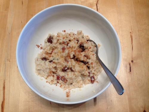 Morning Oatmeal (with rolled oats)