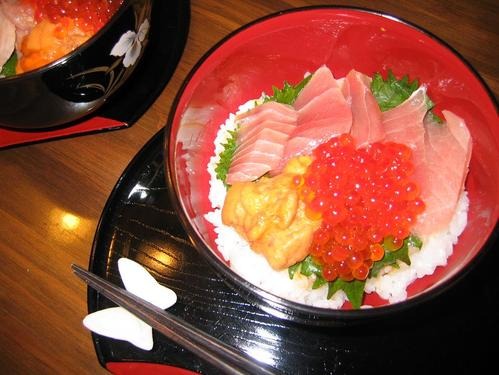 Seafood Rice Bowl with Instant Sushi Rice