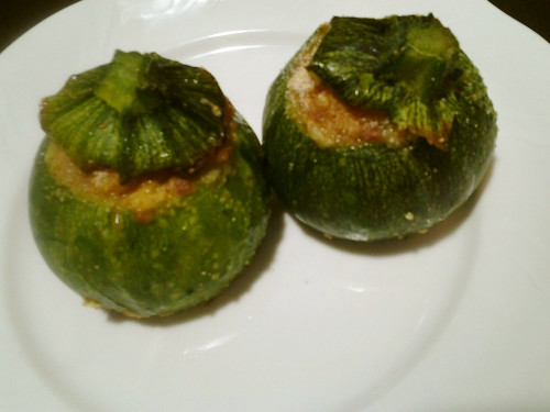 Easy Italian Round Zucchini Stuffed with Meat