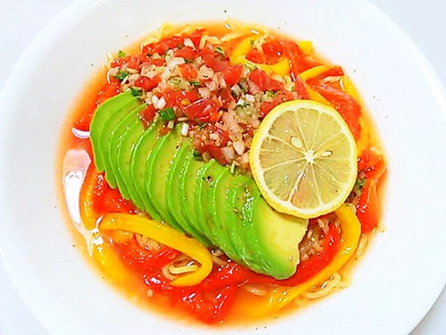 Mexican Style Chilled Chinese Noodles with Salsa