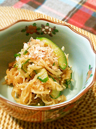 Mixed Cucumber and Kiriboshi Daikon Salad