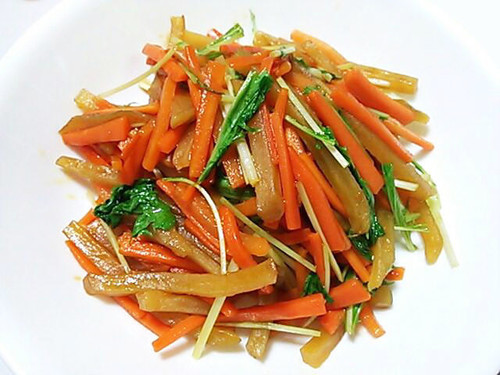Dried Sweet Potato and Carrot Kinpira